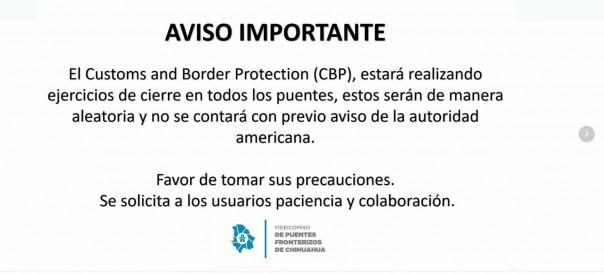 Aviso CBP